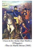 Text Box:   Cruce de los Andes (San Mart�n y O'Higgins)  - �leo de Mart�n Boneo (1865)